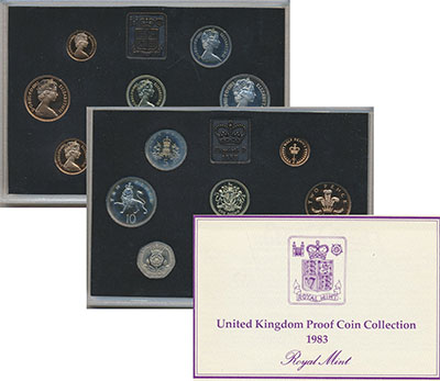 Изображение Подарочные монеты Великобритания Набор 1983 года 1983  Proof Набор из восьми моне