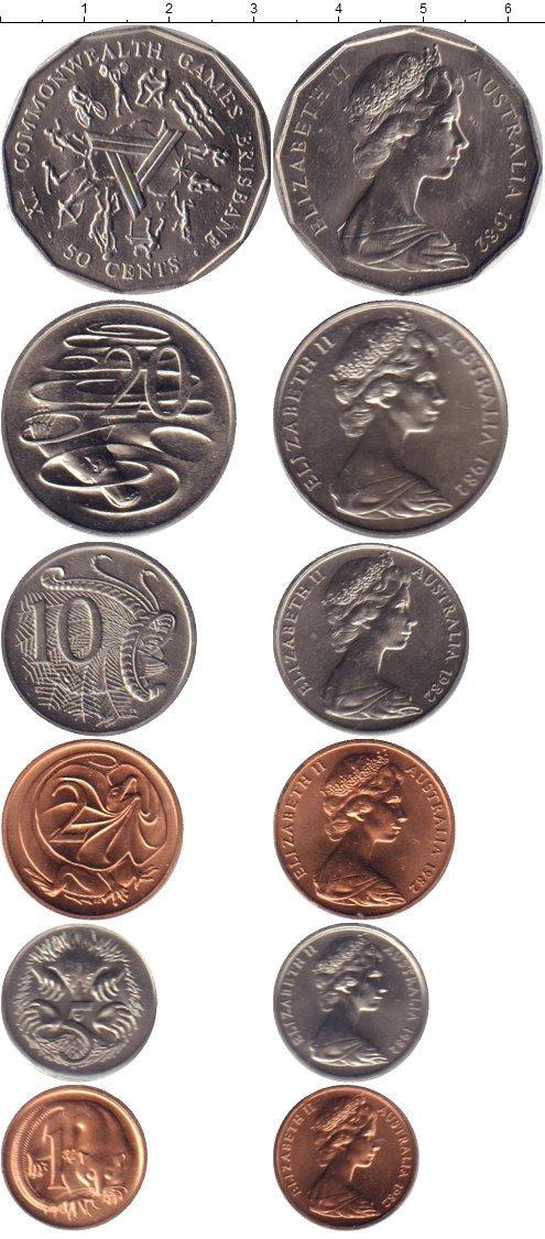 Картинка Подарочные монеты Австралия Игры содружества  1982
