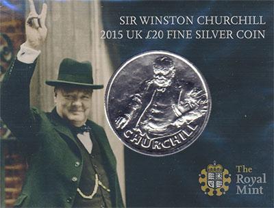 Изображение Подарочные наборы Великобритания У,Черчилль 2015 Серебро BUNC