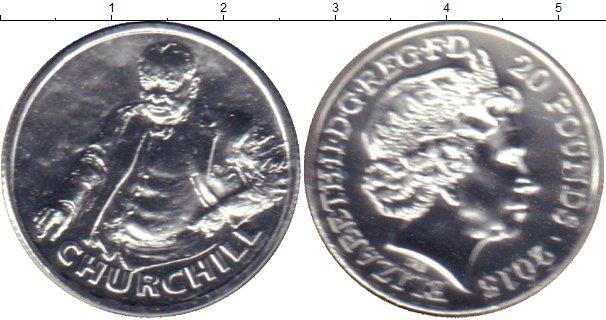Картинка Подарочные монеты Великобритания У,Черчилль Серебро 2015
