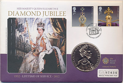 Изображение Подарочные монеты Великобритания Елизавета II 2012 Медно-никель Proof Монета номиналом 5 ф