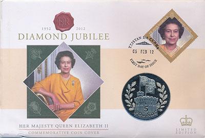 Изображение Подарочные наборы Тристан-да-Кунья Елизавета II 2012 Медно-никель UNC Монета номиналом 5 ф