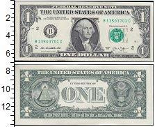 Изображение Банкноты США 1 доллар 0  UNC-