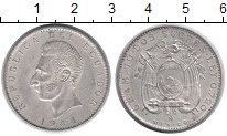 Изображение Монеты Эквадор 10 сукре 1944 Серебро VF+