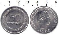 Изображение Монеты Колумбия 50 сентаво 1968 Медно-никель XF