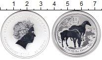 Изображение Монеты Австралия 50 центов 2014 Серебро Proof- Елизавета II. Год ло