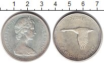 Изображение Монеты Канада 1 доллар 1967 Серебро UNC- 100-летие Федерации.
