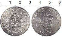 Изображение Монеты Австрия 25 шиллингов 1964 Серебро UNC- Франц Гриллпарцер