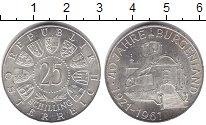 Изображение Монеты Австрия 25 шиллингов 1961 Серебро XF 40 лет Бургерланду