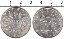 Изображение Монеты Австрия 25 шиллингов 1950 Серебро UNC- 40 лет референдуму п