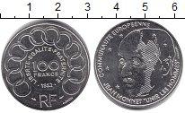 Изображение Монеты Франция 100 франков 1992 Серебро UNC- Жан Моннет - единая