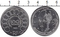 Изображение Монеты Франция 100 франков 1992 Серебро UNC-