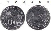 Изображение Монеты Франция 100 франков 1985 Серебро UNC- Эмиль Золя