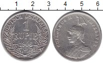 Изображение Монеты Немецкая Африка 1 рупия 1906 Серебро VF Вильгельм II