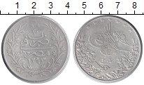 Изображение Монеты Египет 20 кирш 1904 Серебро VF Абдул Хамид II