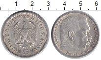 Монета Третий Рейх 5 марок Серебро 1935 XF фото