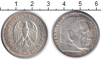 Изображение Монеты Третий Рейх 5 марок 1936 Серебро XF+