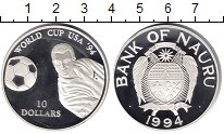 Изображение Монеты Науру 10 долларов 1994 Серебро Proof Чемпионат мира по фу