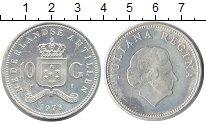 Изображение Монеты Антильские острова 10 гульденов 1978 Серебро UNC- Королева Юлиана.