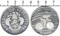 Изображение Монеты Сейшелы 25 рупий 1995 Серебро UNC Олимпиада 1996. Вело