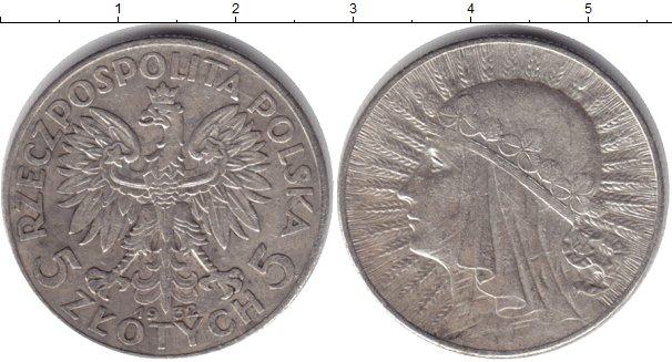 Польша 5 злотых ядвига монета рубль 1827
