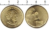 Изображение Мелочь Канада 1 доллар 2016 Медно-никель XF Елизавета II. 100 -