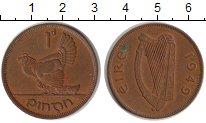 Изображение Монеты Ирландия 1 пенни 1949 Медь XF Домашняя курица.