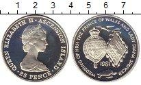 Изображение Монеты Аскенсион 25 пенсов 1981 Серебро Proof Елизавета II. Короле