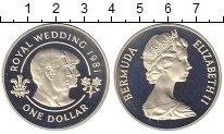 Изображение Монеты Бермудские острова 1 доллар 1981 Серебро Proof