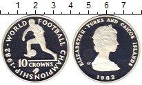 Изображение Монеты Теркc и Кайкос 10 крон 1982 Серебро Proof