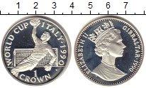 Изображение Монеты Гибралтар 1 крона 1990 Серебро Proof