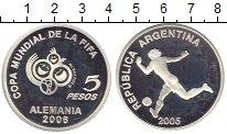 Изображение Монеты Аргентина 5 песо 2005 Серебро Proof Германия. Чемпионат