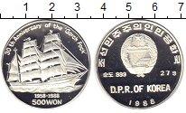 Изображение Монеты Северная Корея 500 вон 1988 Серебро Proof `30 - летие ``Gorch