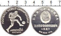 Изображение Монеты Северная Корея 500 вон 1987 Серебро Proof Мексика. Чемпионат м