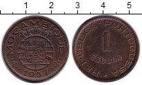 Изображение Монеты Мозамбик 1 эскудо 1957 Медь XF