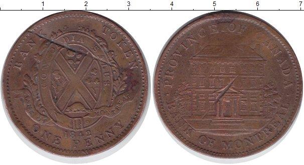 Картинка Мелочь Канада 1 пенни Медь 1842