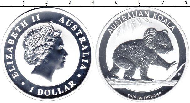 Картинка Монеты Австралия 1 доллар Серебро 2016
