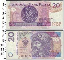 Изображение Банкноты Польша 20 злотых 2016  UNC скан банкноты привед