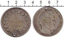Изображение Монеты Франция 5 франков 1833 Серебро
