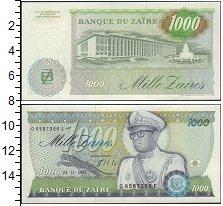 Изображение Банкноты Конго Заир 1000 заиров 0  UNC