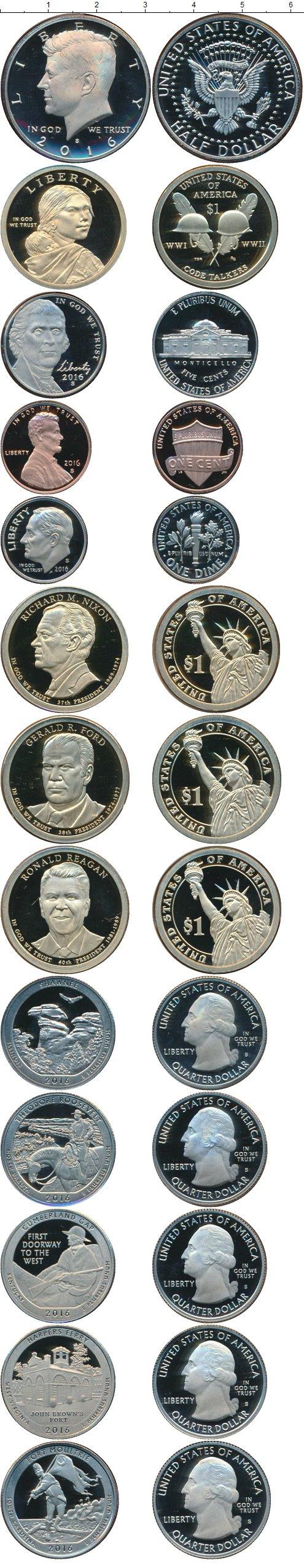 Картинка Подарочные монеты США Набор 2016 года  2016