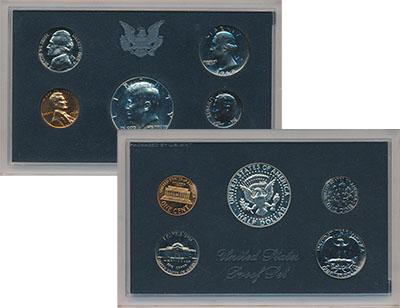 Изображение Подарочные наборы США Набор 1968 года 1968  Proof- Набор состоит из пят