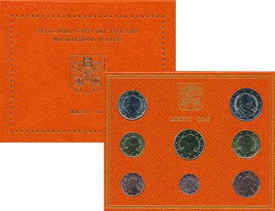 Изображение Подарочные монеты Ватикан Набор 2016 года 2016  UNC Годовой набор евромо