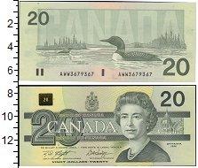 Изображение Банкноты Канада 20 долларов 1991  UNC