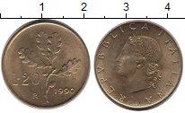 Изображение Дешевые монеты Не определено 20 лир 1990 Медь UNC