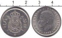 Изображение Дешевые монеты Не определено 5 песет 1975 Медно-никель XF