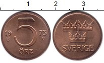 Изображение Дешевые монеты Не определено 5 эре 1973 Медь UNC