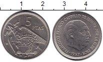 Изображение Дешевые монеты Испания 5 песет 1957 Медно-никель XF