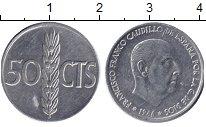 Изображение Дешевые монеты Испания 50 сентим 1966 Алюминий XF