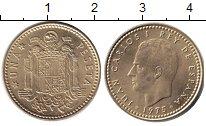 Изображение Дешевые монеты Испания 1 песета 1975 Медь XF